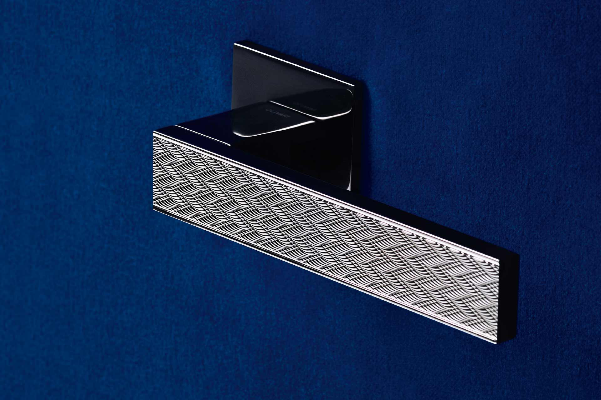 Diana Chevron Guilloche Door Handle